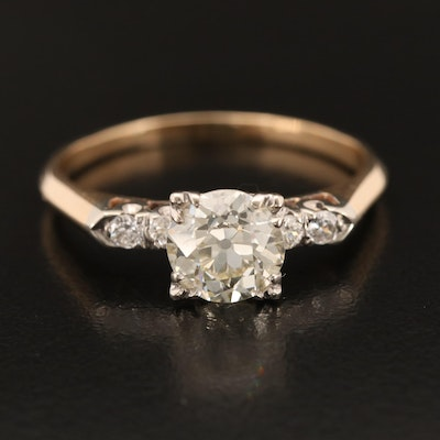Vintage 14K 1.72 CTW Diamond Ring