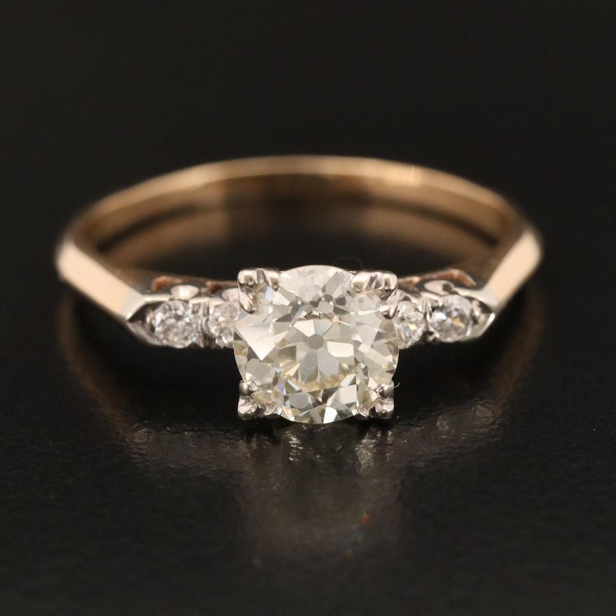 Vintage 14K 1.72 CTW Diamond Ring