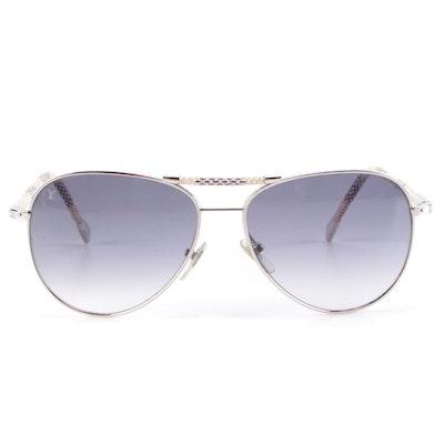 Louis Vuitton Z0203U Damier Azur Conspiration Pilot Sunglasses with Case