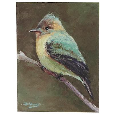 "James Baldoumas Oil Painting of Bird ""European Bee-Eater,"" 2021"