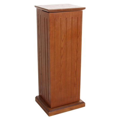 Wood Pedestal Style CD Cabinet