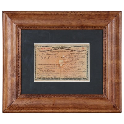 National Prohibition Act Prescription for Medicinal Liquor, 1925