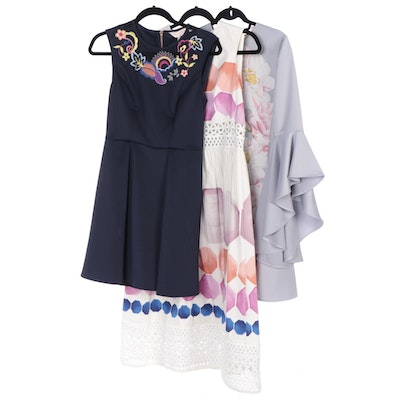 Ted Baker Sayda Shift, Lavensa Embroidered and Serinah Lace Inset Dresses