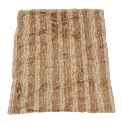 Donna Salyers Fabulous Furs Couture Blonde Faux Mink Throw Blanket