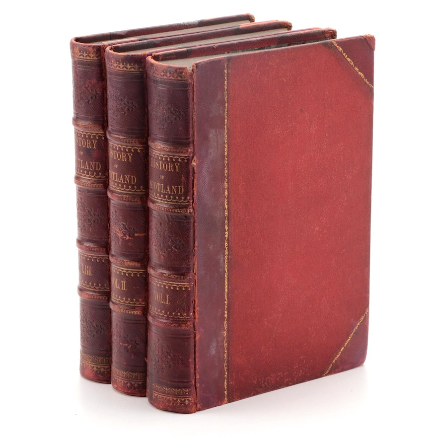 """""""The History of Scotland from the Earliest Period"""" Three-Volume Set, c. 1860"""