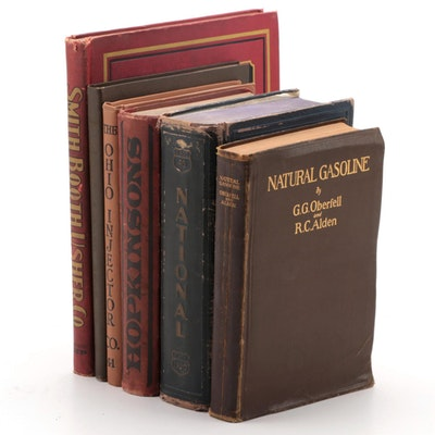"First Edition ""Natural Gasoline"" by Oberfell and Alden with Engineering Catalogs"