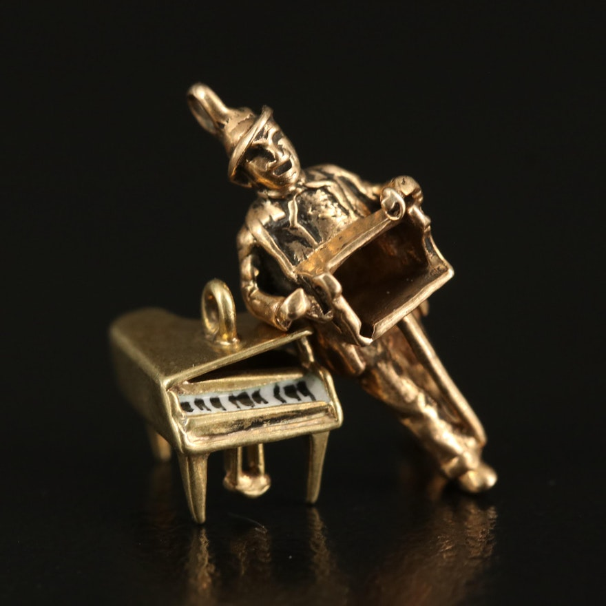 Sloan & Co. 14K Piano Charm with Organ Grinder Charm
