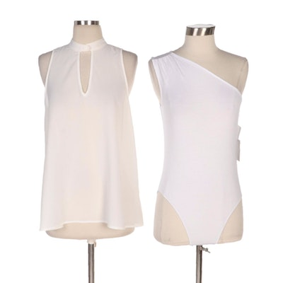 BB Dakota Sleeveless Blouse with 1 State One-Shoulder Bodysuit