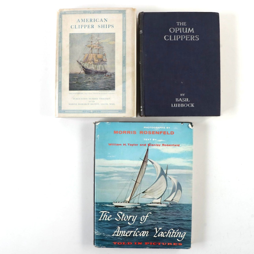 """""""The Opium Clippers"""" by Basil Lubbock and More Sailing History Books"""
