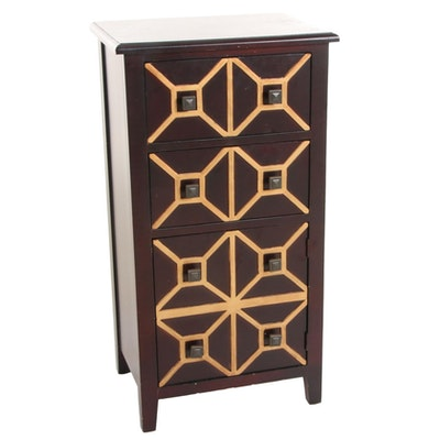 Bombay Co. Mahogany-Stained Wood Side Cabinet