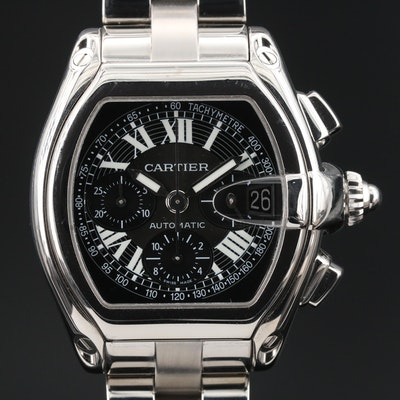 "Cartier ""Roadster"" Automatic Chronograph Wristwatch"