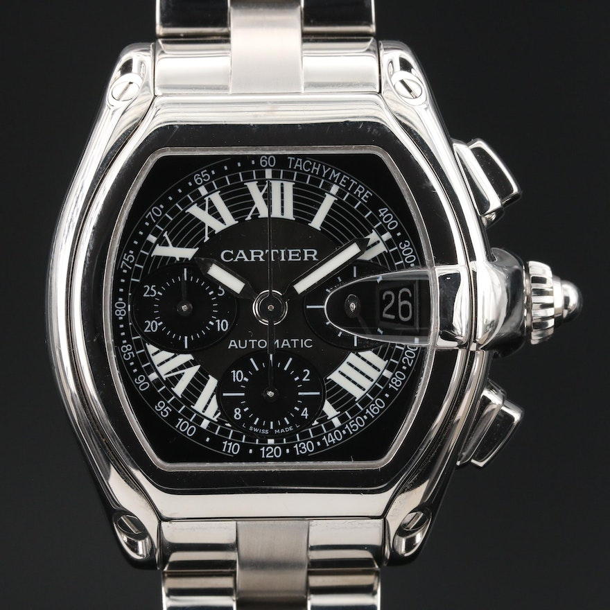 """Cartier """"Roadster"""" Automatic Chronograph Wristwatch"""