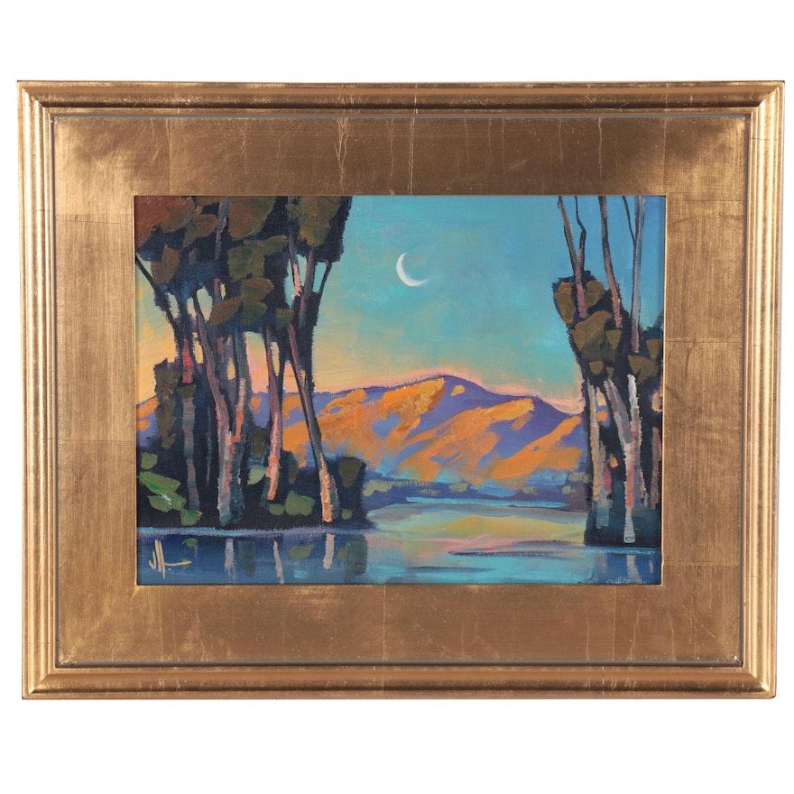 "William Hawkins Landscape Oil Painting ""Celestion,"" 2021"