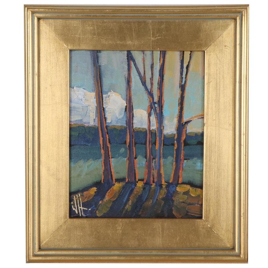 "William Hawkins Landscape Oil Painting ""Iluminar,"" 2021"