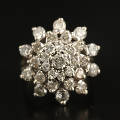14K 2.20 CTW Diamond Tiered Ring
