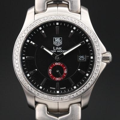 "TAG Heuer ""Tiger Woods"" 1.04 CTW Diamond Wristwatch"