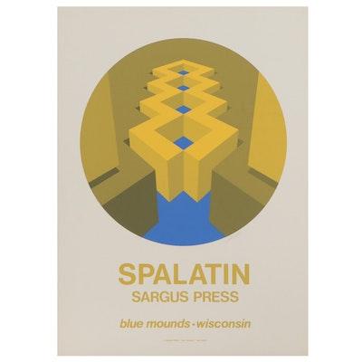 Marko Spalatin Op Art Serigraph