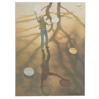 "Robert Vickrey Serigraph ""Balloon Dance,"" circa 1980"