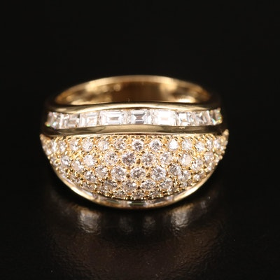18K 2.19 CTW Pavé Diamond Dome Ring