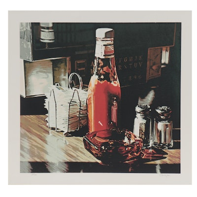 "Ralph Goings Serigraph ""Still Life With Sugars,"" 1981"