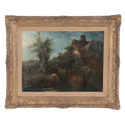 Edward Robert Smythe Genre Scene Oil Painting, 1895