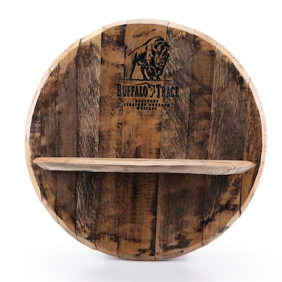 Buffalo Trace Wooden Bourbon Barrel Top Shelf