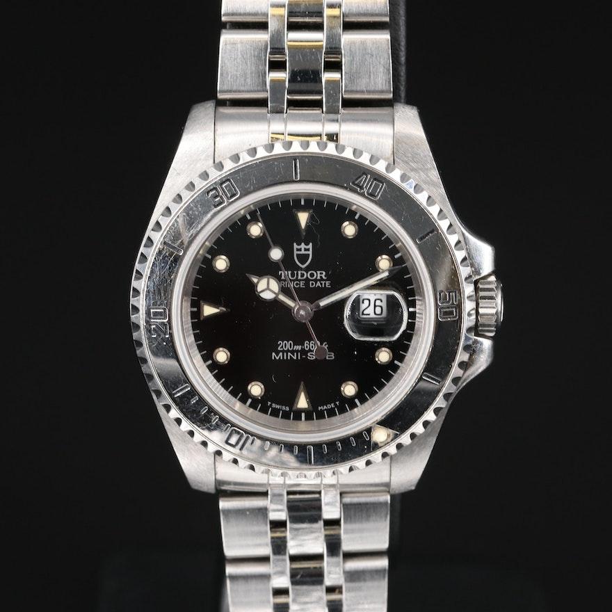 Vintage Tudor Mini-Sub Stainless Steel Automatic Wristwatch