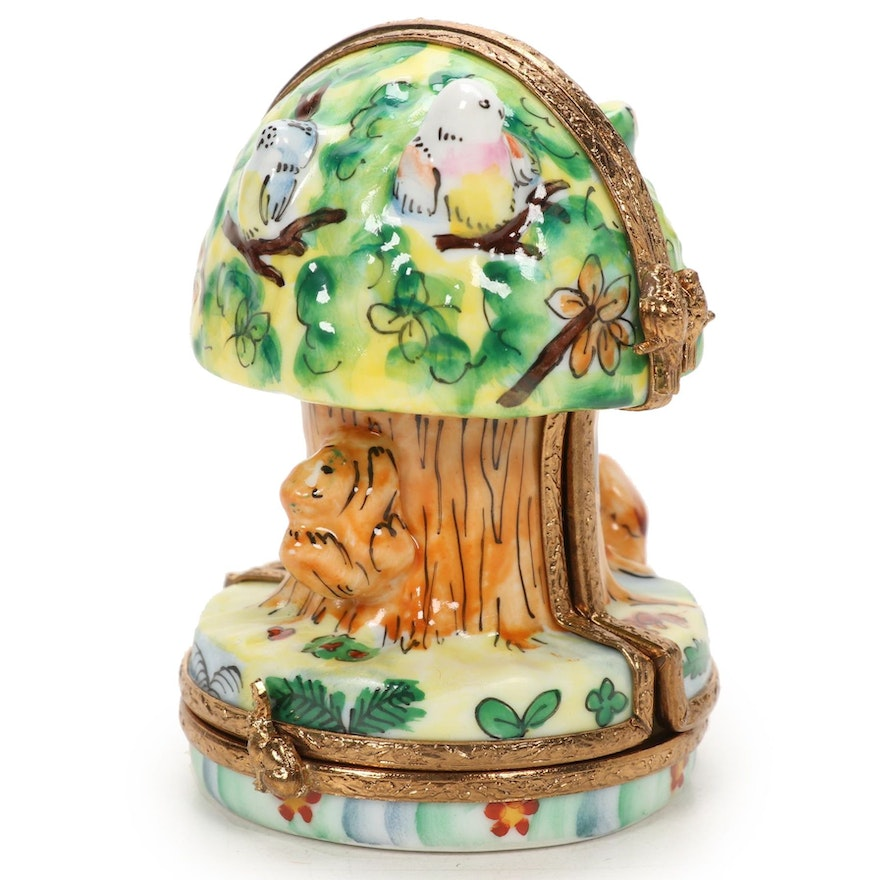 La Gloriette Hand-Painted Porcelain Tree House Limoges Box