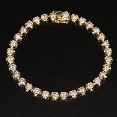 14K 7.01 CTW Diamond Line Bracelet
