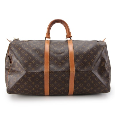 Louis Vuitton Malletier Keepall 55 Travel Bag in Monogram Canvas