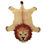 3' x 5' Hand-Tufted Indian Lion Shaped Accent Rug
