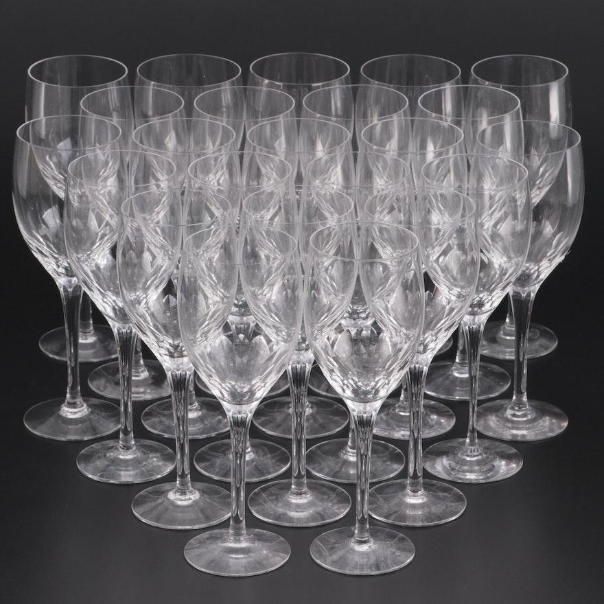 "Orrefors ""Prelude"" Crystal Claret Wine Glasses"