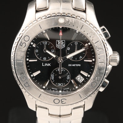 "TAG Heuer ""Link"" Chronograph 200 Meters Wristwatch"