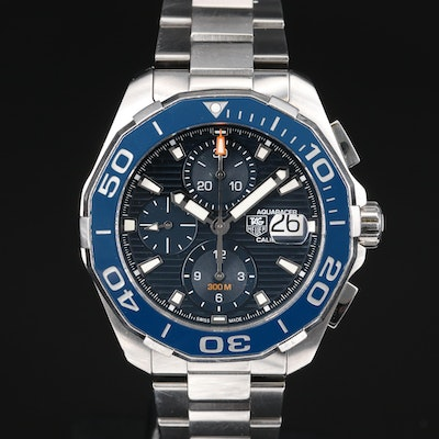 "TAG Heuer ""Aquaracer"" 300M Calibre 16 Stainless Steel Automatic Wristwatch"
