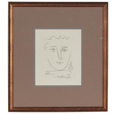 "Pablo Picasso Restrike Etching ""L' Age de Soleil,"" Late 20th Century"