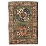 2'2 x 3'1 Hand-Knotted Afghan Turkmen Rug, 2010s