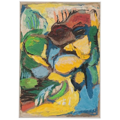Abstract Impasto Oil Painting, 1989