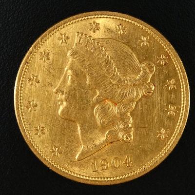 1904 Liberty Head $20 Double Eagle Gold Coin