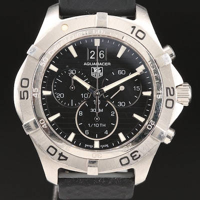 "TAG Heuer ""Aquaracer"" 300M Chronograph Stainless Steel Quartz Wristwatch"