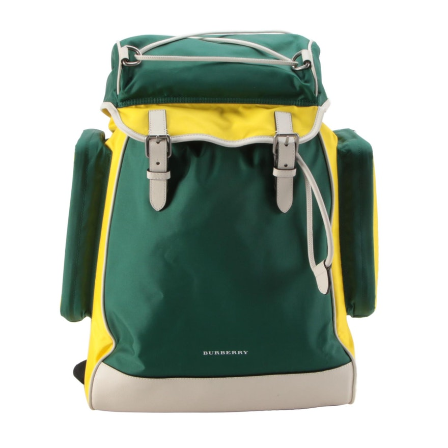 Burberry Jack Cay Backpack in Pine Green Nylon