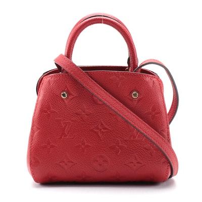 Louis Vuitton Nano Montaigne Bag in Cherry Empreinte Monogram Leather