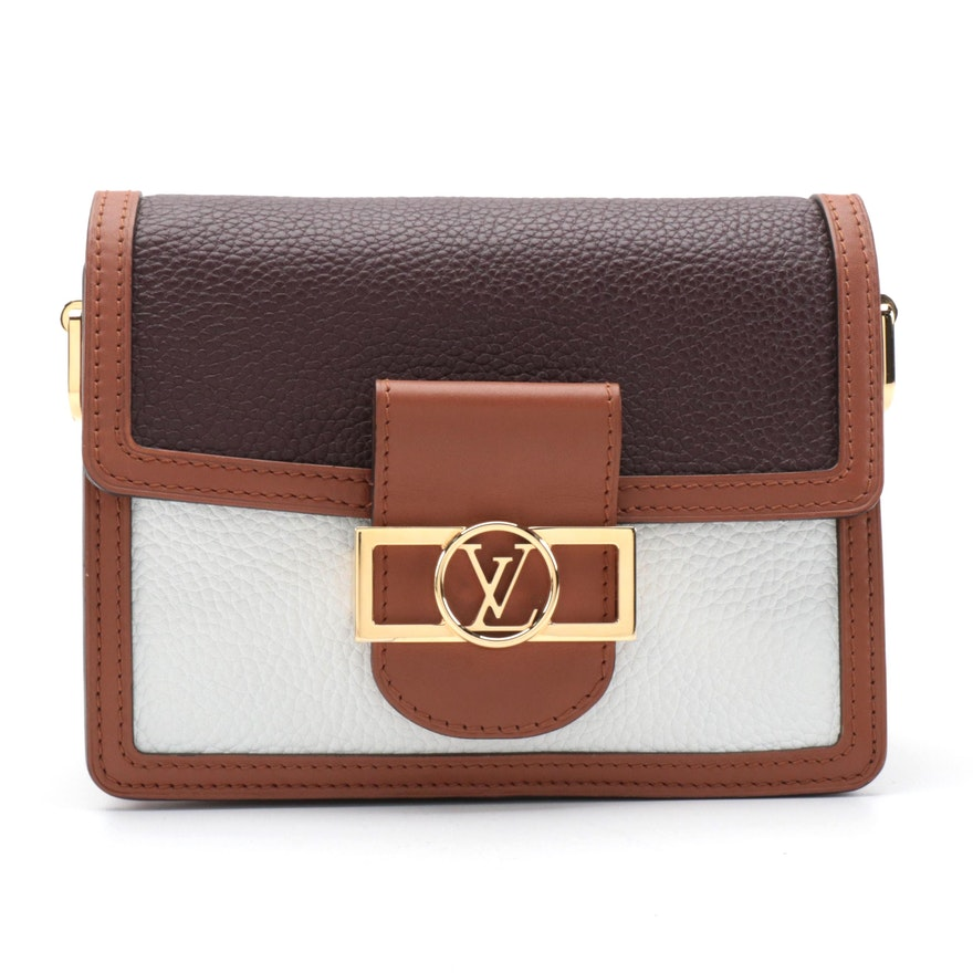 Louis Vuitton Mini Dauphine Shoulder Bag in Bicolor Taurillon Leather