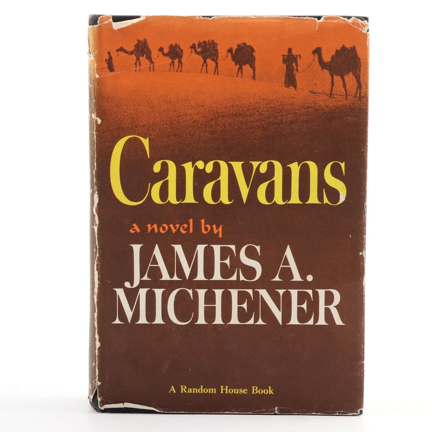 """First Edition, First Printing """"Caravans"""" by James A. Michener, 1963"""