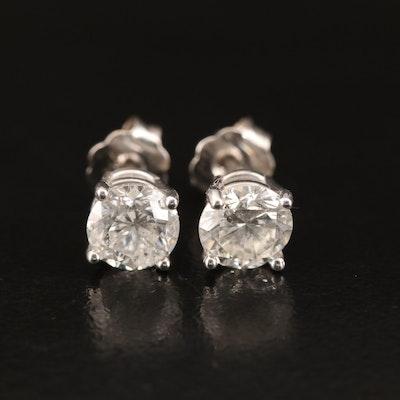 14K 1.19 CTW Diamond Stud Earrings