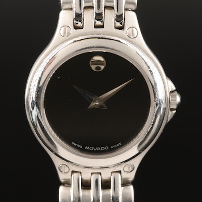 "Movado ""Museum"" Stainless Steel Quartz Wristwatch"
