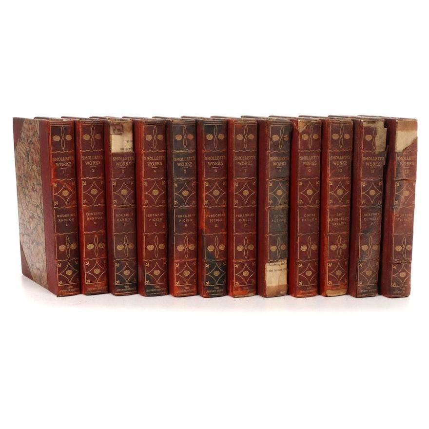 "Limited Edition ""The Works of Tobias Smollett"" Twelve-Volume Set, 1905"