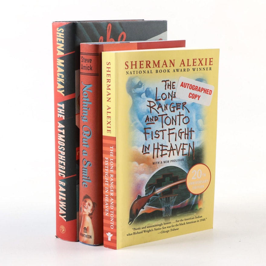 """Signed First Edition Books Including """"The Atmospheric Railway"""" by Shena Mackay"""