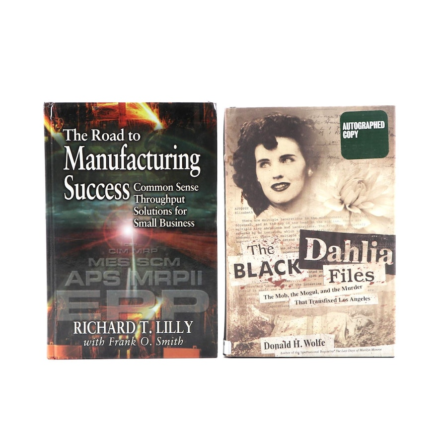 """Signed First Edition """"The Black Dahlia Files"""" by Donald H. Wolfe and More"""