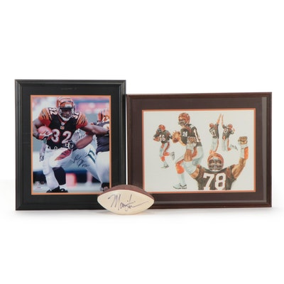 Cincinnati Bengals Items, Including Marvin Lewis and Rudy Johnson Signatures