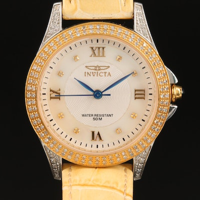 Invicta Diamond and Mother of Pearl Wristwatch